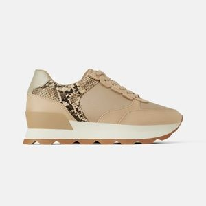 Zara sneakers with snake print details